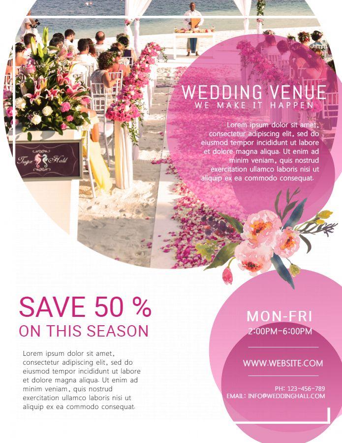 Wedding Planner Venue Service Flyer Design Event Planning Flyer Event Planning Brochure Event Planning Branding
