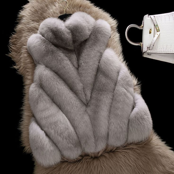 Korea Style 100% Real Whole Fox Fur Vest Luxury Stripes Fox Jacket Wiastcoat