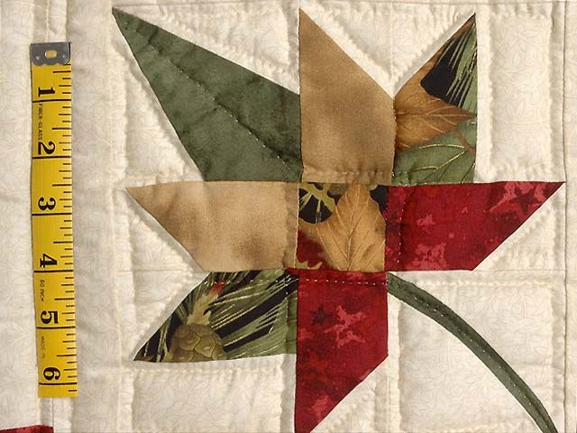 Autumn Splendor Log Cabin Quilt -- terrific ably made Amish Quilts from Lancaster (wh2215)