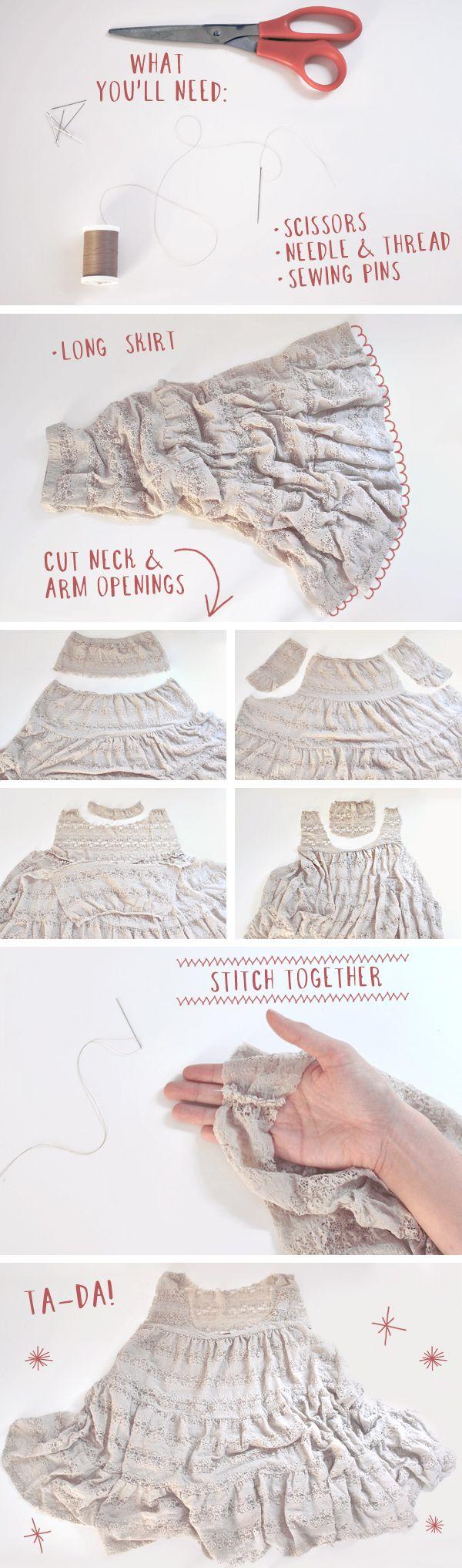 как юбки сшить платье