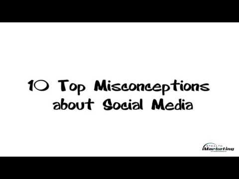 http://www.stealthimarketing.com/news/social-media/social-media-management-10-misconceptions/  1: it is a fad for teenagers  2: It is too time consuming  3: It costs a lot of money  4: It is a set and forget method  5: Replaces your business website  6: Takes too long to generate sales  7: Have to post a lot to get results  8: You need a lot of followers to get sales  9: Need to be on every social media site  10: Not effective for your business  Want to know the truth? Click the above link!
