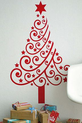 Easy Canvas christmas Painting Ideas | Alternative Christmas Tree Ideas - Space Saving 2D Christmas Trees