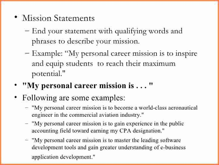 Personal Branding Statement Sample Elegant 13 Mission Example Vision Brand Your