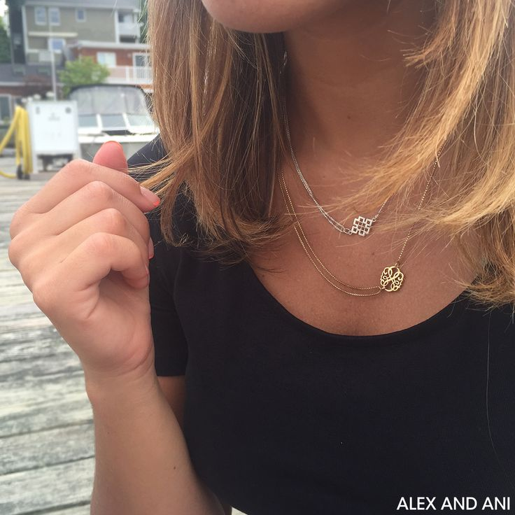 ALEX AND ANI Precious Metal Necklaces! Path Of Life and Endless Knot Providence Collection Pull Chain Necklaces!