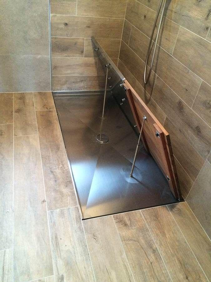foto de Piatto doccia filo pavimento Dreno su misura rettangolare