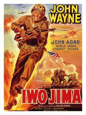 """""""Arenas de Iwo Jima"""" de 1948,protagonizada por el gran e inolvidable John Wayne."""