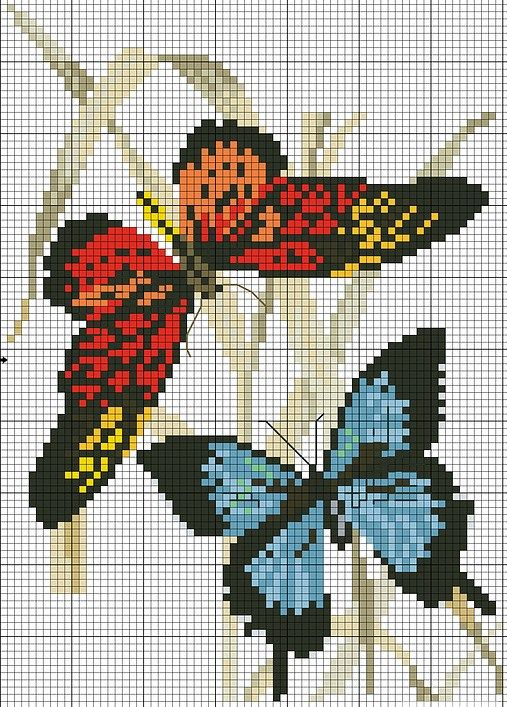 sandylandya@outlook.es cross stitch butterfly chart.. no color chart, just use pattern chart colors as your guide.. or choose your own colors.