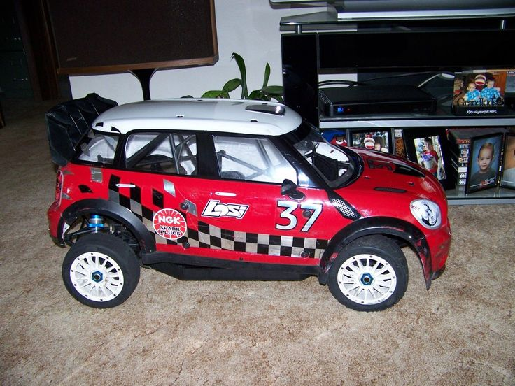 losi 5ive 5t mini cooper wrc rovan king motor 1/5 29cc gas  rc monster truck