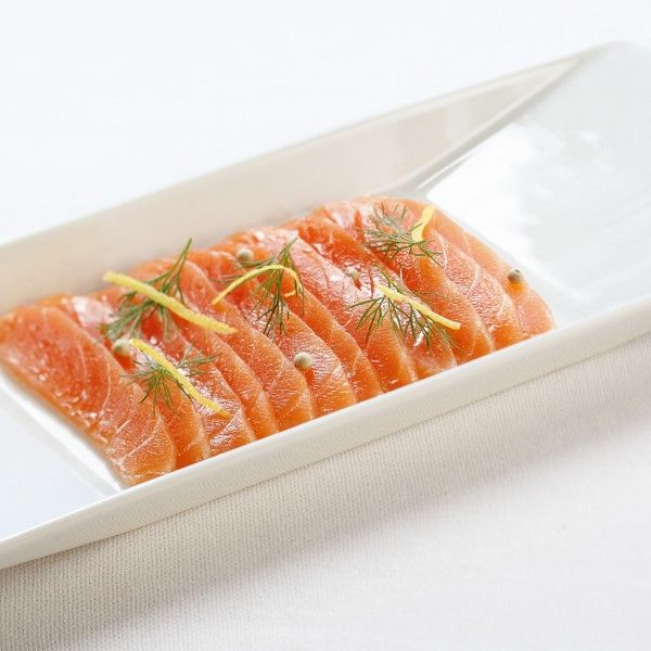Dill Cured Salmon (no longer raw after it has been cured), served with dill-mustard sauce is heavenly. Make sure the salmon has been frozen for a few days either before you cure it or after you have cured it