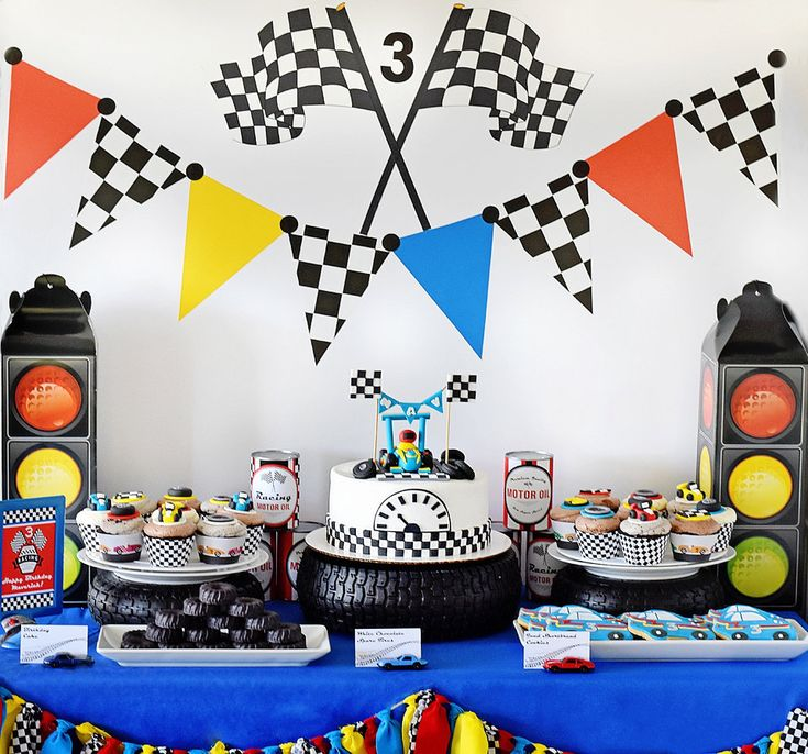 """Race Car Party Cake Table Backdrop, Dessert Background - Editable INSTANT DOWNLOAD PDF  36"""" x 48"""", Traffic Lights, Checkered Flag by EmilyEntertains on Etsy"""
