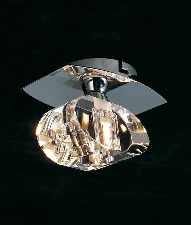 Plafón cromo 1 luz ALFA - La Casa de la Lámpara