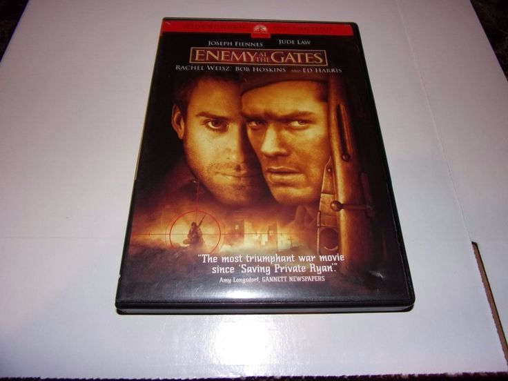 Enemy at the Gates (DVD, 2001, Widescreen) Joseph Fiennes, Jude Law #Paramount