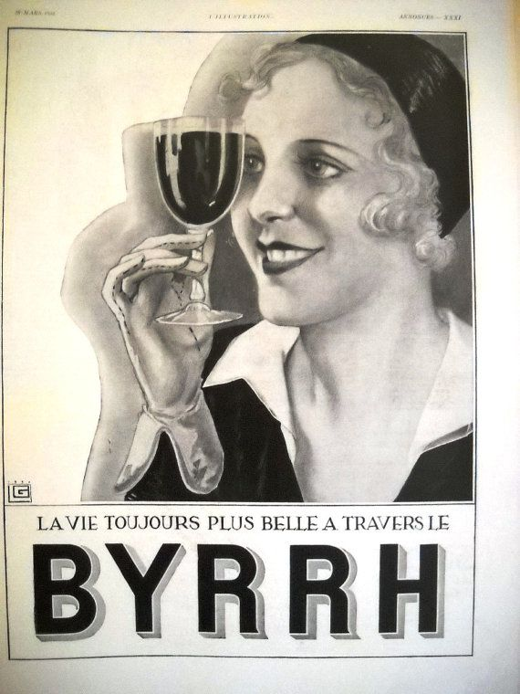 BYRRH art deco ad vintage advertising L'Illustration by OldMag #Byrrh #vintage #poster #aperitif