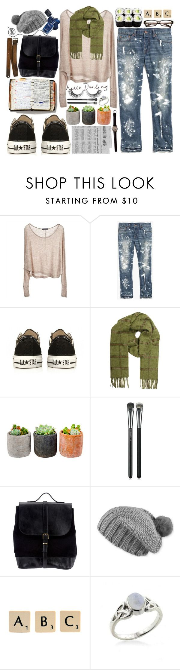 """Have I Said No"" by fallensoul101 ❤ liked on Polyvore featuring Brandy Melville, Madewell, Converse, Barbour, Shop Succulents, Peek, MAC Cosmetics, Steve Mono, Pistil and Katie"