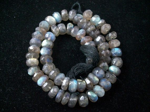 Top quality 7 to 8 mm natural LARADORITE (10 pcs lot ) AAA roundel beads faceted gemstone...