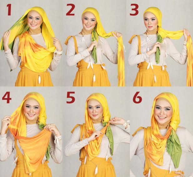 Modern Hijab Styles Tutorials | Hijab Tutorials 2013