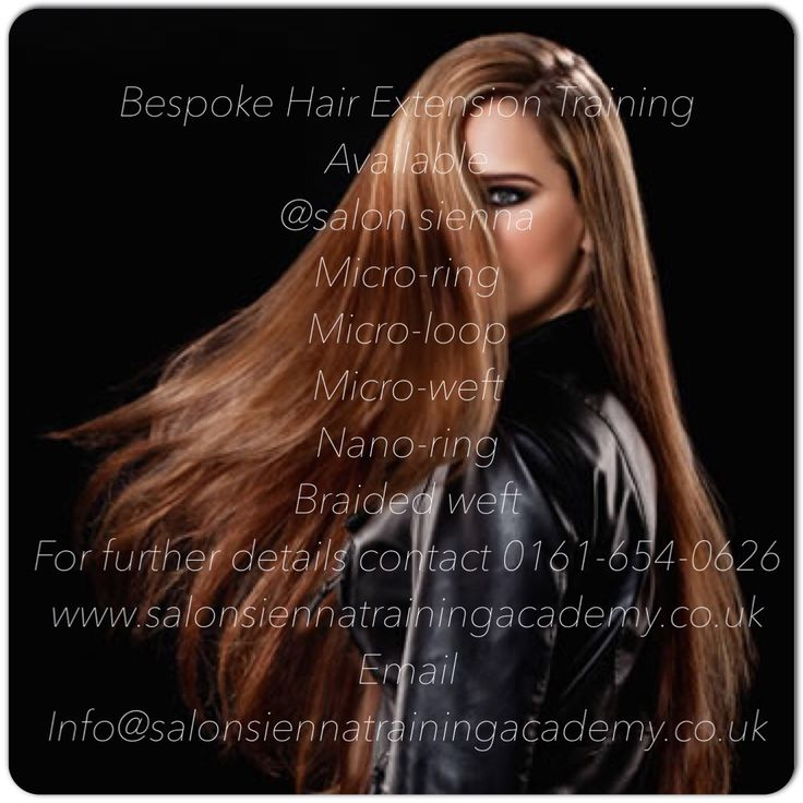 Hair Extension Training Courses available every week , Fully Accredited and Approved. Salon Group Training Available. LA Weaves, Braided Wefts , Micro Wefts ,Micro Loop, Micro Ring Nano Ring Also Hand Tied Weft Making Course Available. Suppliers of Russian Slavic Virgin & Coloured Double Drawn Hair. 0161 654 0626 ( Spaces available this Sunday 17th May 10-4 pm)