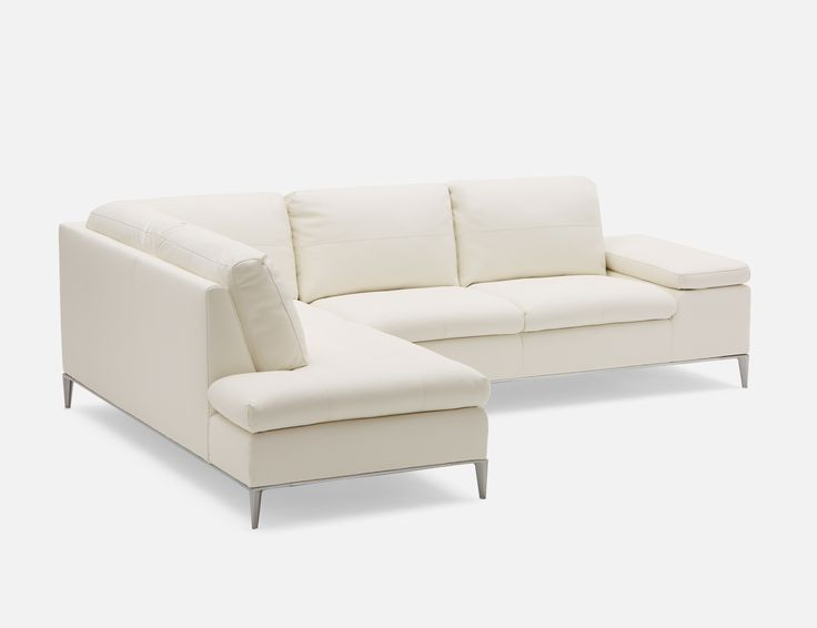 White Left Facing Sectional Sofa, Andrew Sectional Sofa
