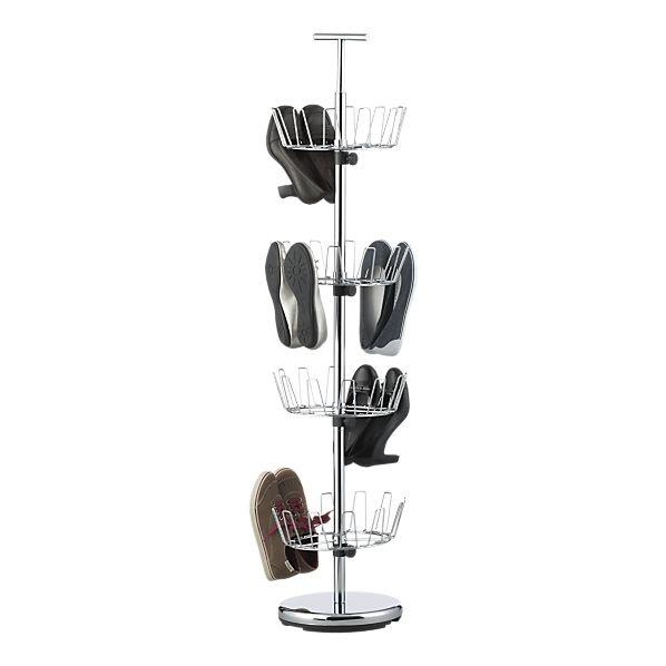 Horizontal spinning shoe rack! Revolutionary