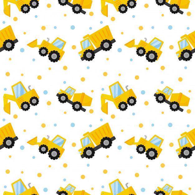 Tractor Excavadora Excavadora Y Camiones De Patrones Sin Fisuras Vector Premium Premium Vector Fr Fondos Para Niños Diseño Gráfico Niños Fondos Para Bebés