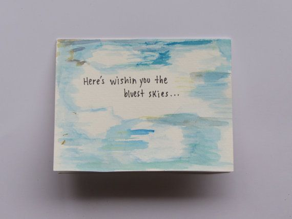 Here's Wishin You the Bluest Skies...Handmade by AnnaJaynesDesigns, $3.95
