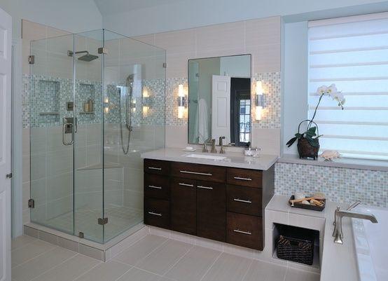 How-To DIY Article | 11 Simple DIY Ways To Make Your Small Bathroom Look  BIGGER | Image Source: Carla Aston | CLICK TO ENJOY...  http://CarlaAston.com/designed/11-tips-how-to-make-small-bathroom-look-big  (KWs: mirror, cabinet, closet, lighting)