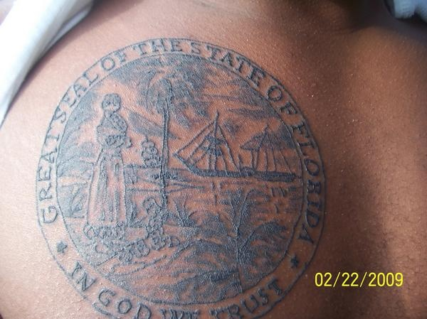 Florida tattoo my new tattoo the florida seal florida for South florida tattoo