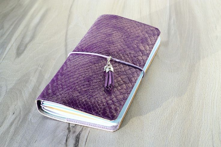 Excited to share the latest addition to my #etsy shop: Dot grid notebook Faux leather journal Leather fauxdori Bullet journal Refillable  http://etsy.me/2AurAzB #booksandzines #journal #purple #birthday #christmas #dotgrid