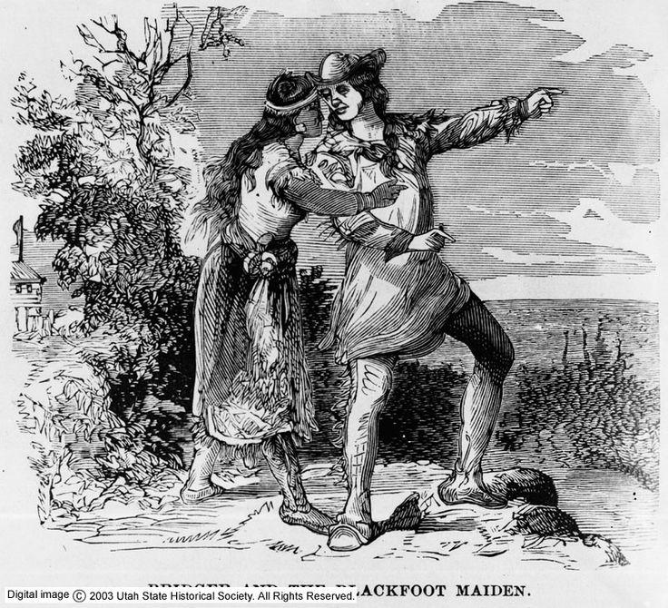 Jim Bridger and Blackfoot maiden
