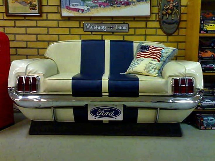 """Nathan NEEDS this Ford Mustang Couch for his future """"man cave""""!! :) @Elizabeth Boyer"""
