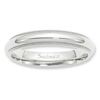 Zales Ladies 2.0mm Beaded Twist Wedding Band in Sterling Silver mhhfMkcbwN