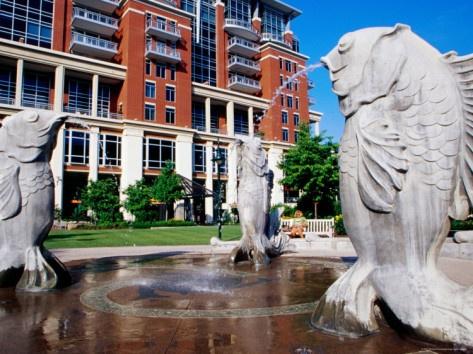 Fountain at the Green, Downtown, Charlotte, North Carolina