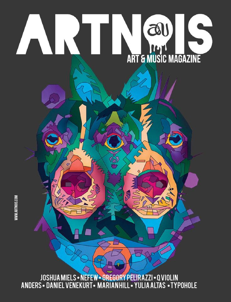 """Artnois Issue 13  Featuring Joshua Miels, Nefew, Gregory Pelirazzi, Quetzal """"Q Violin"""" Guerrero, Anders, Daniel Venekurt, Marian Hill, Yulia Altas and Typohole which is on the cover.   It is safe to say that between the hustle and bustle of holiday events, travel opportunities and random busy-work, most of us forget to take time to sit back, take a deep breath and enjoy our surroundings!  For this reason we share artists whom reorient us to reality, they help us focus on what life is all ..."""