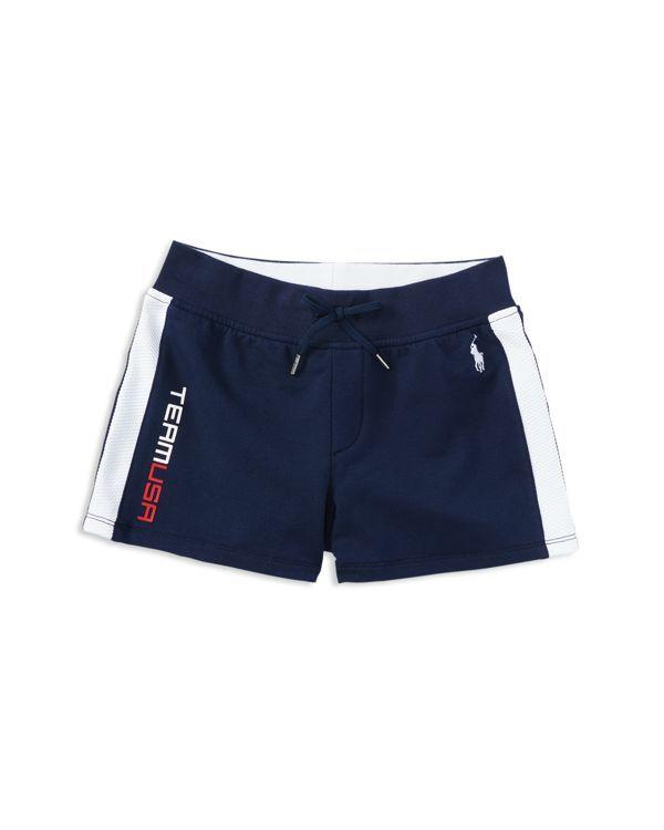 Ralph Lauren Childrenswear Girls' Wicking Interloop Shorts - Size 2-6X