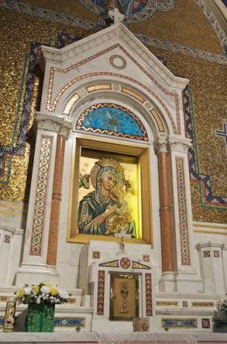 Mother of Perpetual Help Side Altar in St Cecilia Catholic Church, St. Louis, MO