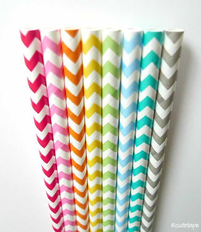 100 Chevron Straws w/ DIY Flags pdf (USA) Party Decoration Wedding Decor by PartyAwwSweet on Etsy