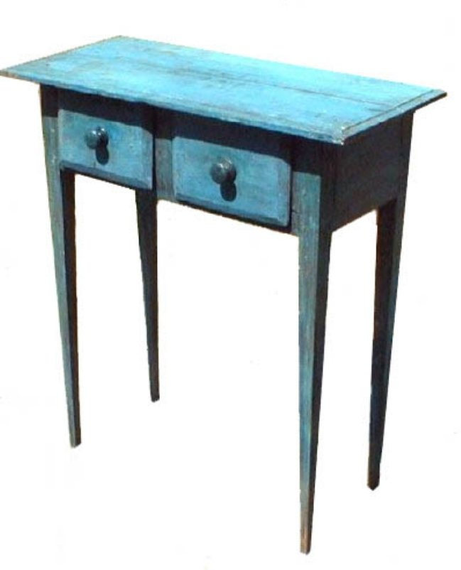 North Carolina Huntboard With Blue Paint. Southern FurnitureCountry ...