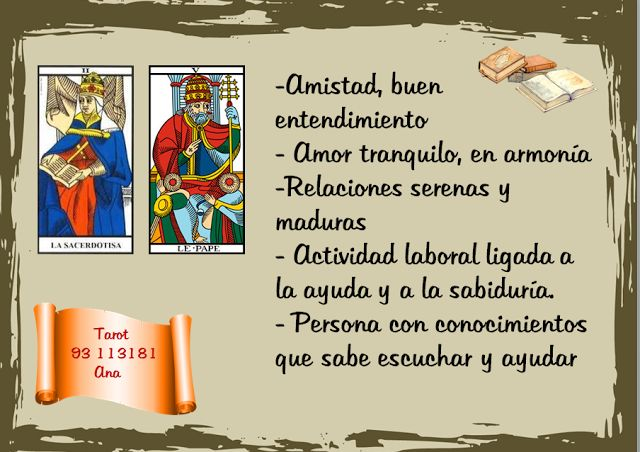 Ana Tarot: COMBINACIONES  PAPISA/ PAPA