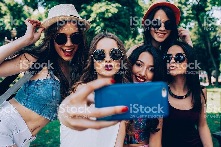 five beautiful young girls royalty-free stock photo