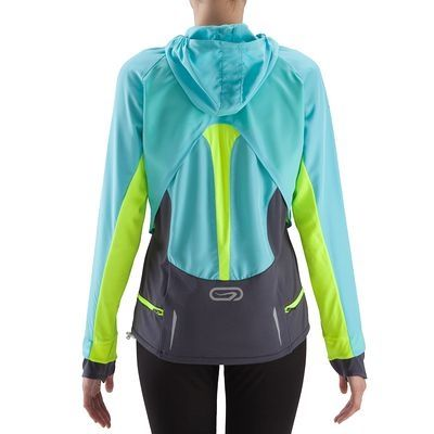 Decathlon - WANT! - Shirt Evolutiv turquoise KALENJI