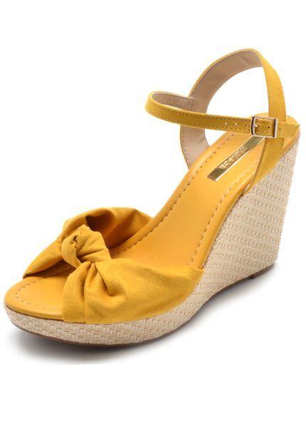15d0ec87c Sandália Moleca Nó Amarela em 2019   Moleca   Shoes, Wedges e Fashion