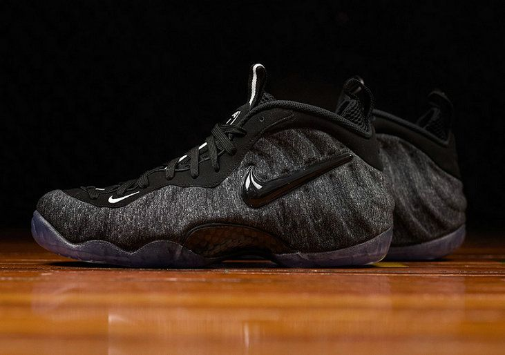 Nike Air Foamposite Pro Authentic Nike Air Foamposite Pro 624041-007 Dark Grey Heather Black-Black Basketball Shoe For Discount