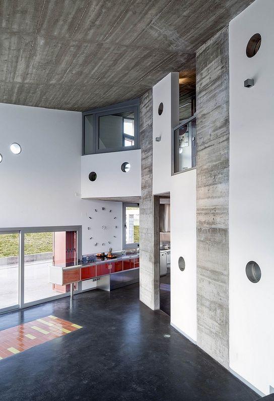 concrete + metro tiles