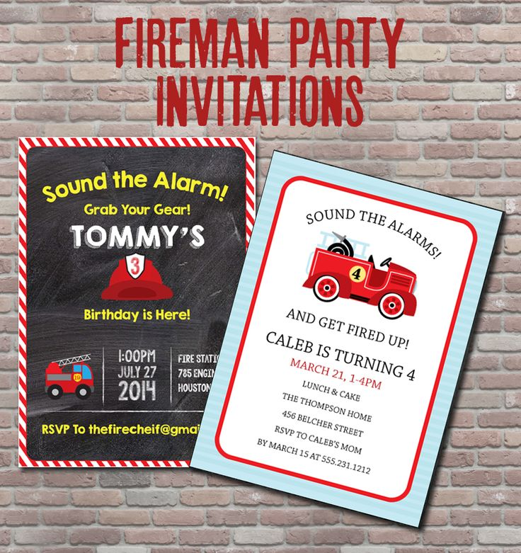 56 best Fireman Party Ideas-Fire Truck Party Ideas images on ...