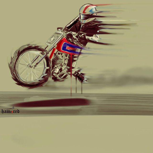 Illustration by Hamerred #illustration #design #motorcycles #motos | caferacerpasion.com