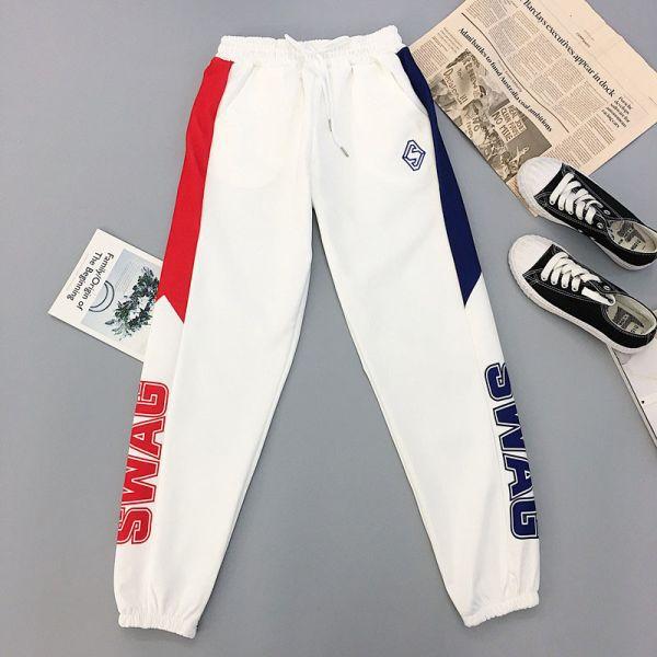 51 45 30 Off خريف 2019 مطبوعة رسالة البضائع السراويل النساء فضفاضة الهيب هوب Harajuku Sweatpants الشارع ا Cargo Pants Women Sport Pants Clothes For Women