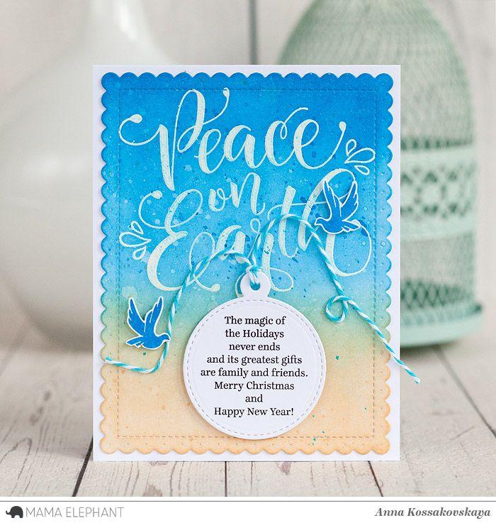 Mama Elephant Stamp Highlight: Peaceful Wishes @akossakovskaya @mamaelephant #cardmaking #mamaelephant