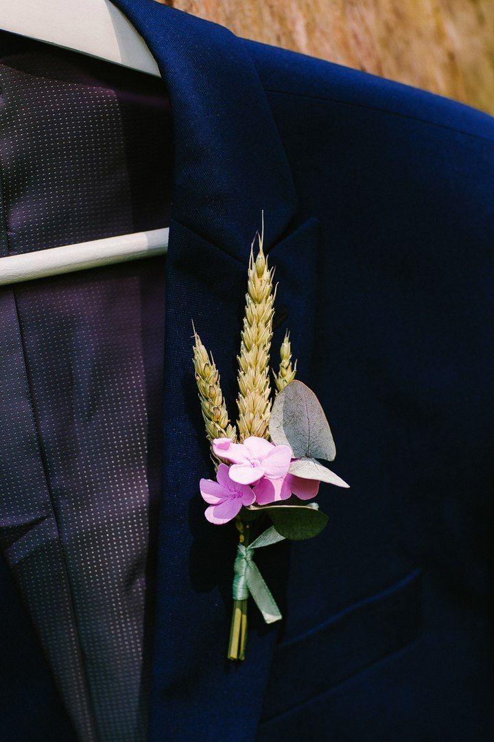 Мятная свадьба. Бутоньерка для жениха. Эко свадьба