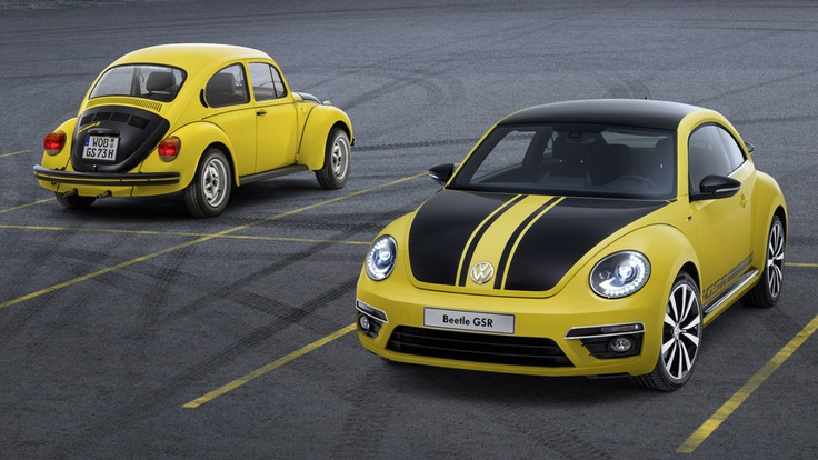 2014 Volkswagen Beetle GSR recalls the original bumblebee. #vw