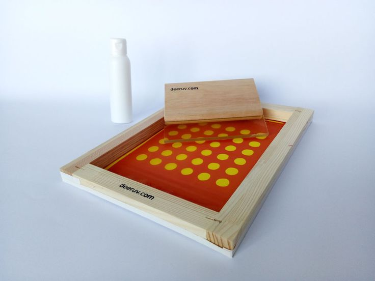 Print ready screen printing frame with dot pattern, squeegee and ink | Business & Industrial, Printing & Graphic Arts, Screen & Specialty Printing | eBay!
